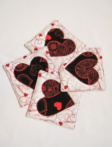 Quilted - coasters valentine day gift