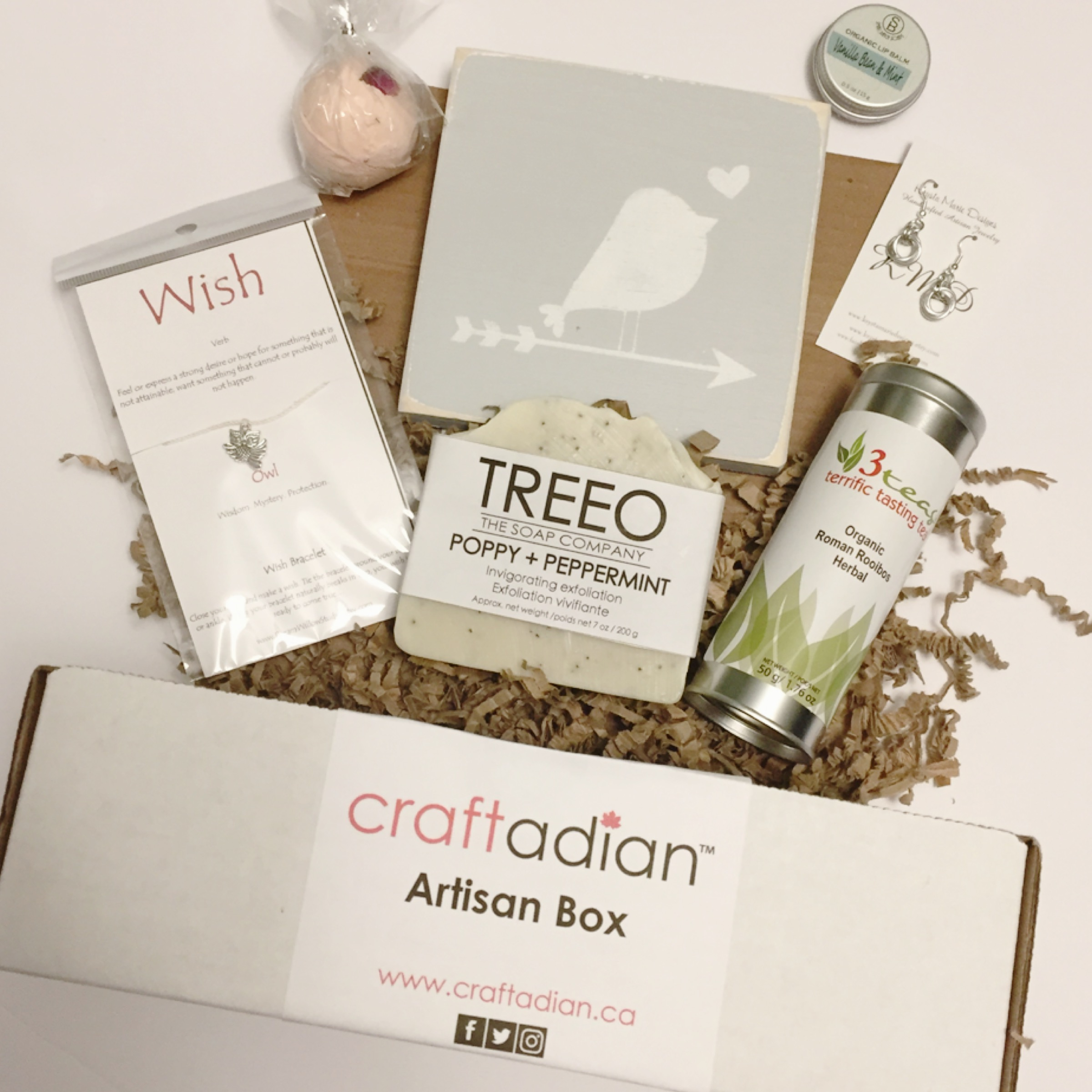 Craftadian craftadian artisan gift box one time for Home subscription box