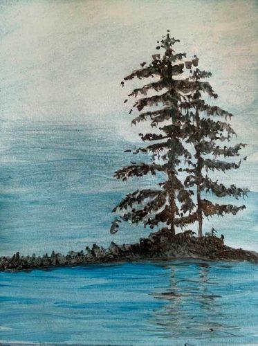 """Jack Love"" watercolour on 9"" x 12"" paper, unframed $80"