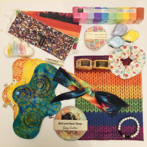 Some of our rainbow items.