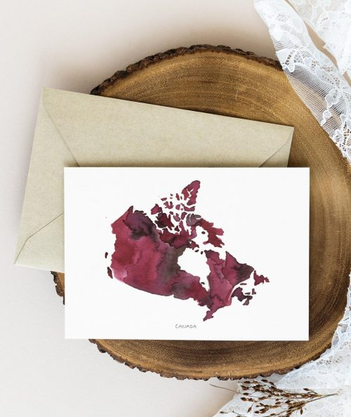 Canadian Map Note Cards Pack