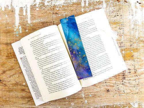 Galaxy Away | Handmade Watercolour Bookmark | Thoughtfully Handmade