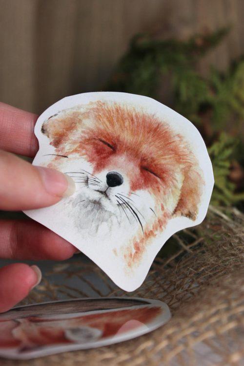 Die Cut Fox Stickers