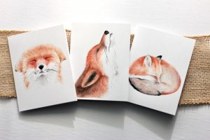 Fox Note Cards  Pack