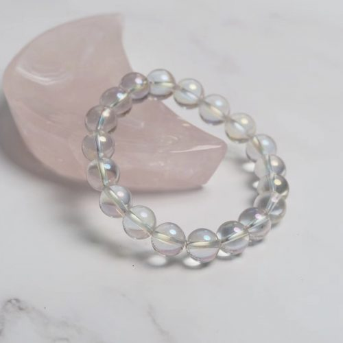 Crystal bracelet - aura quartz