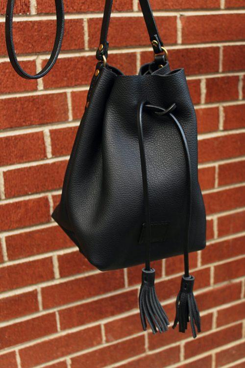 Noriker Bucket Bag | Black & Solid Brass