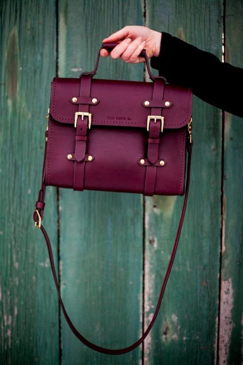 Oldenburg Small Messenger | Oxblood English Bridle Leather & Solid Brass