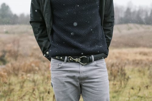 Shire Belt | Black English Bridle Leather & Stainless Steel