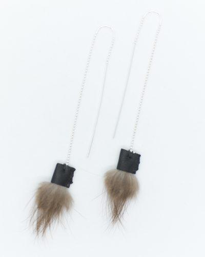 Beaver and Italian Lambskin Silver Threaders